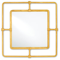 Metro 23 X 23 inch Contemporary Gold and Mirror Wall Mirror