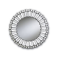 Currey & Company Amrah Mirror in Black/White 1006