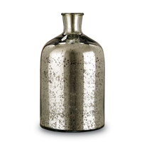 Currey & Company Cypriot Bottle in Antique Silver 1023