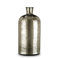 Currey & Company Cypriot Bottle in Antique Silver 1024