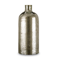 Currey & Company Cypriot Bottle in Antique Silver 1025