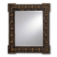 Currey & Company Academia Mirror in Saddle 1050