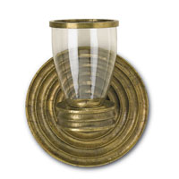 Currey & Company Lavina Candle Sconce in Antique Brass 1057
