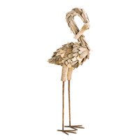 Currey & Company Driftwood Flamingo in Natural 1059
