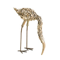 Currey & Company Driftwood Flamingo in Natural 1060