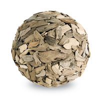 Currey & Company Driftwood Ball in Natural 1062