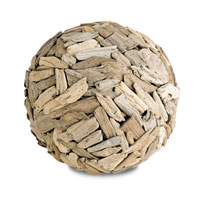 Currey & Company Driftwood Ball in Natural 1064