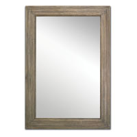 Currey & Company Stanhope Mirror in Weathered Vintage 1070 photo thumbnail