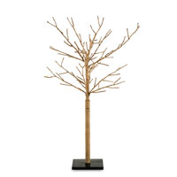 Currey & Company Twiggy Decor in Cast Iron/Natural 1075