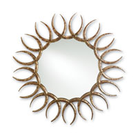 Currey & Company Sunfire Mirror in Distressed Ethan Allen and Gold Leaf 1077
