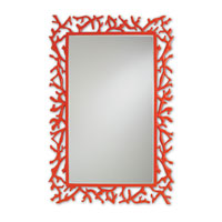 Currey & Company Corail Mirror in Red 1084 photo thumbnail