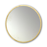 Aline 42 X 42 inch Contemporary Gold Leaf/Antique Mirror Wall Mirror