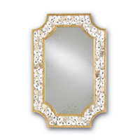 Margate 45 X 30 inch Contemporary Gold Leaf and Natural Wall Mirror