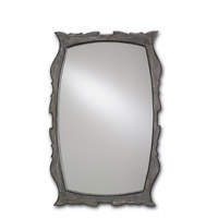 Currey & Company Largo Mirror in Burnt Coal and Vintage Steel 1095