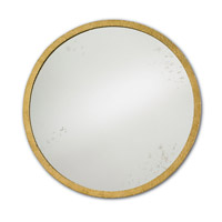 Aline 21 X 21 inch Contemporary Gold Leaf and Antique Mirror Mirror Home Decor