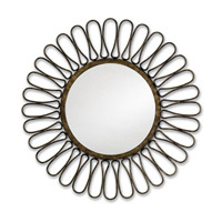 Currey & Company Roulette Mirror in Dark Silver 1099