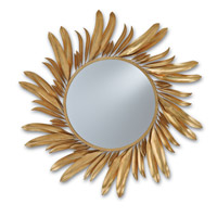 Folium 31 X 31 inch Contemporary Gold Leaf Mirror Home Decor