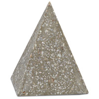 Abalone Abalone Concrete Pyramid Decorative Accent, Small
