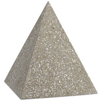 Abalone Abalone Concrete Pyramid Decorative Accent, Large