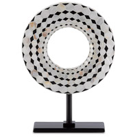 Currey & Company 1200-0208 Rondelle Black/Pearl Disc, Small
