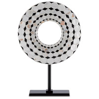 Currey & Company 1200-0209 Rondelle Black/Pearl Disc Large