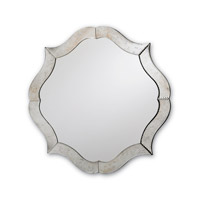 Currey & Company Monteleone Mirror in Silver/ Antique Mirror 1301