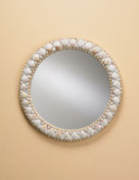Currey & Company Harbor Mirror in Natural Shell 1320 photo thumbnail