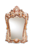 Currey & Company Beachcomber Shell Mirror in Natural Shell 1344