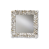 Currey & Company Oyster Shell Mirror in Natural Shell 1348