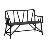 Arboria Distressed Black Bench Home Decor