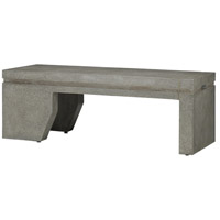 Currey & Company 2000-0013 Arwen Pebbled Polished Concrete Outdoor Bench