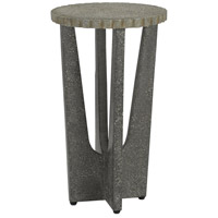 Warner 13 inch Pebbled and Gray Pebbled Polished Concrete Outdoor Drinks Table