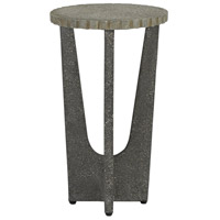 Currey & Company 2000-0014 Warner 13 inch Pebbled and Gray Pebbled Polished Concrete Outdoor Drinks Table alternative photo thumbnail