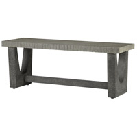 Warner Pebbled and Gray Pebbled Polished Concrete Outdoor Bench