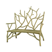 Elwynn Faux Bois Bench Home Decor