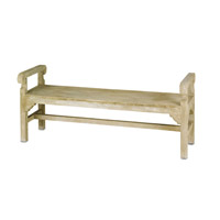 Chippendale Light Acid Wash Bench Home Decor