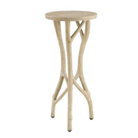 Dartmoor 12 inch Faux Bois Side Table