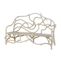 Currey & Company Villandry Bench in Light Acid Wash 2033