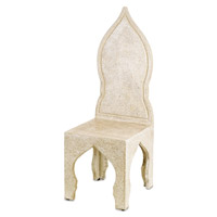 Currey & Company Pontiff Chair in Polished with Abalone Shell 2035
