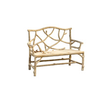 Currey & Company Woodland Bench in Faux Bois 2705