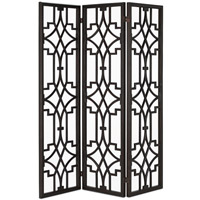 Nador Dark Mahogany Folding Screen