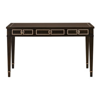 Currey & Company Belden Desk in Walnut / Ivory Oak / Antique Brass 3000-0005