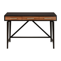Currey & Company Modern Desk in Macassar Ebony/Zebra Wood/Ebonized Mahogany/Brass 3000-0016