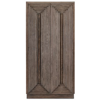 Morombe Wire Brushed Distressed Cocoa Cabinet