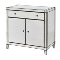Monarch Painted Silver Viejo/Light Antique Mirror Cabinet