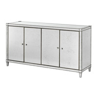 Monarch Painted Silver Viejo/Light Antique Mirror Credenza