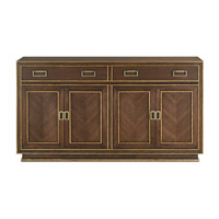 Benedict Dark Walnut /Burnished Gold/Satin Brass Credenza