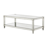 Currey & Company 3000-0025 Monarch 54 inch Painted Silver Viejo/Light Antique Mirror Cocktail Table Home Decor