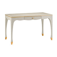 Tatum 48 inch Lacquered Gray/Antique Gold Desk Home Decor