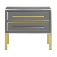 Arden Tornado Gray/Satin Brass Chest